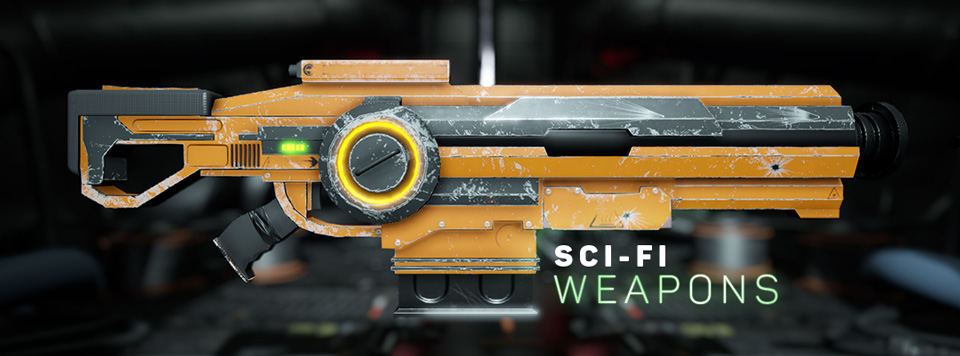 Sci-Fi Weapons Banner