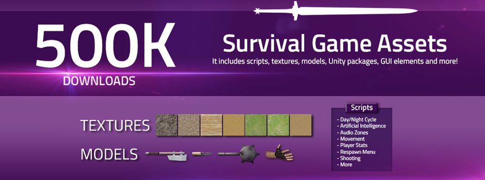 Survival Game Assets Banner