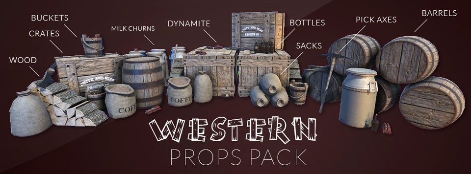 Western Props Pack Banner